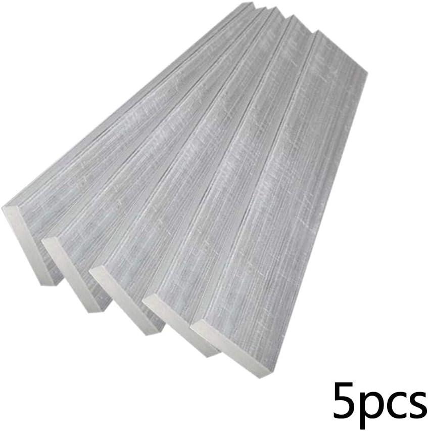 5 pi/èces JKGHK Barre Plate en Aluminium,Diff/érentes Tailles,La Longueur est de 500 mm ,2mm x 20mm x 500mm