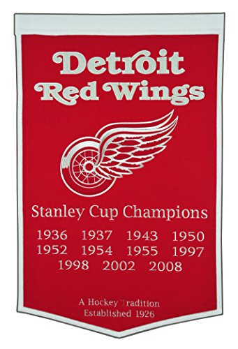 NHL Detroit Red Wings Dynasty Banner