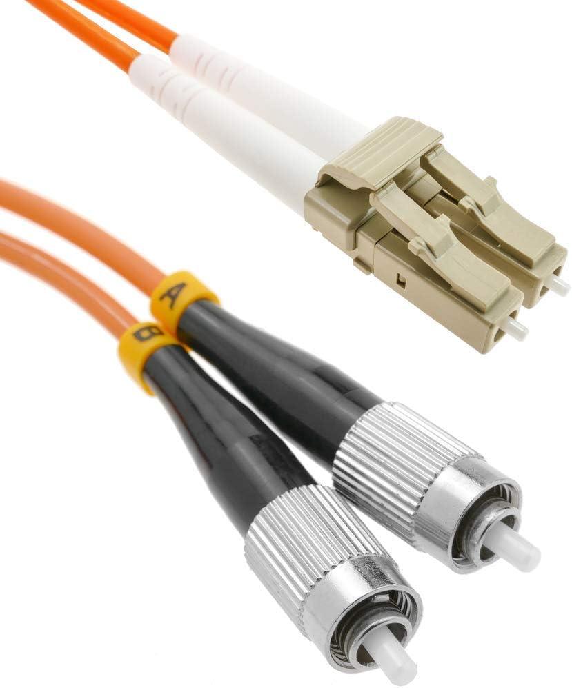 BeMatik Cable de Fibra /óptica LC a LC multimodo Duplex 62.5//125 de 50 cm
