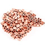 100 Ferrules Only Copper Swage Cable Wire Snare Double Barrel Line End 3/32''