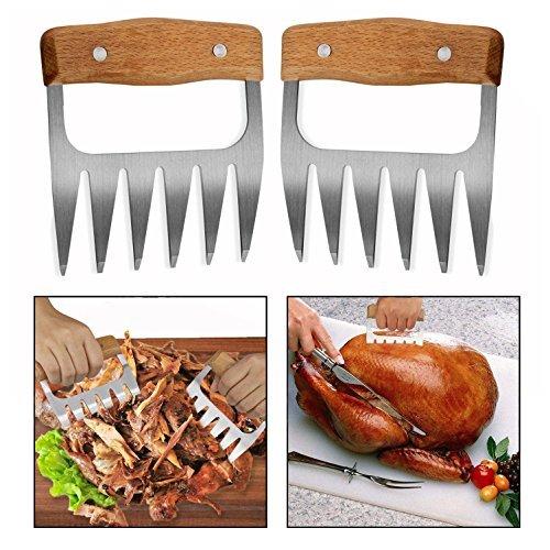 OFKPO 2 PCS Artigli Carne Forchettoni da Carne Professionali Artigli Pollo per Cucina