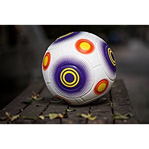 Bend-It Soccer, Knuckle-It Pro Purple, Soccer Ball Size 5, Official Match Ball With VPM And VRC Technology (Purple White, 5)