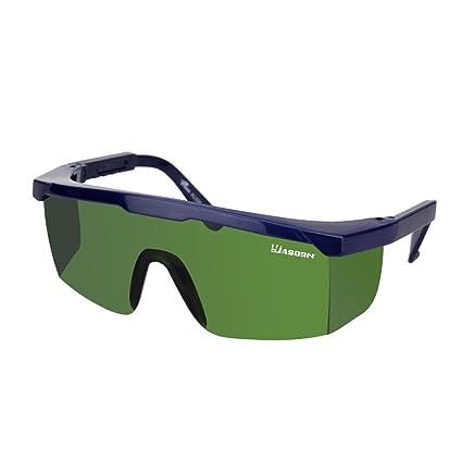 yasorn soldadura gafas de protección gafas de seguridad con lentes de PC Filtro de color verde