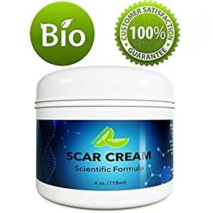 Best Scar Removal Treatment - Blemish Remover Cream Vitamin E Tocopherol - SPF Moisturizer for Dry Skin Body Lotion with Coconut Oil - Stretch Mark Removal Cream for Women and Men - No Added Fragrance