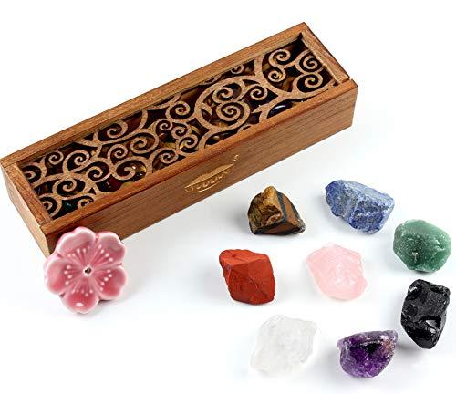 vuUUuv Chakra Stones Set -Natural Rough Raw Stone Reiki Healing Crystals for Healing, Meditation, Chakra Balance or…