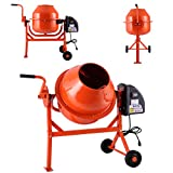 JAXPETY 2-1/5cuft Portable Electric Concrete Cement Mixer Barrow Machine Mixing mortar