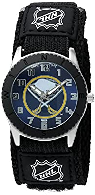 "Game Time Unisex NHL-ROB-BUF ""Rookie Black"" Watch - Buffalo Sabres"