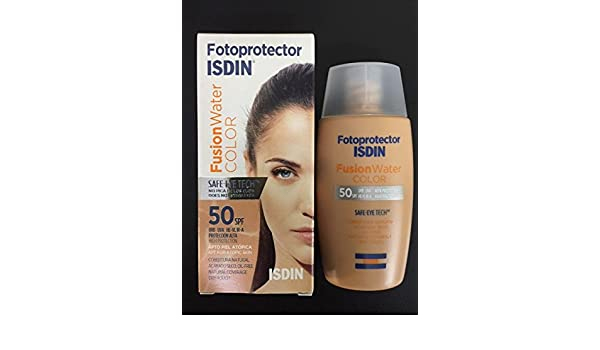 Amazon.com: ISDIN FOTOPROTECTOR FUSION WATER COLOR SPF50+ 50 ml OIL FREE VELVET TOUCH SKIN BEAUTY: Beauty