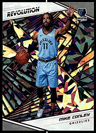 bd917c78b 2018-19 Revolution Chinese New Year Red Parallel Basketball  80 Mike Conley  Memphis Grizzlies
