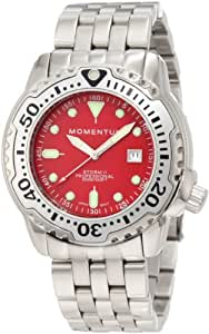 Momentum Men's 1M-DV82R0 Storm II Red Dial Steel Bracelet Watch