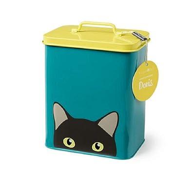 Burgon & Ball Creaturewares GCR/CAT Pet Food Storage Tin Doris' Cat