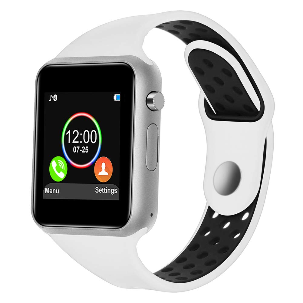 HongTu Smartwatch, Waterproof Smart Watch for Android, Bluetooth Smart Watches with SIM TF Card Slot for Android Phones Samsung iOS iPhone Women Man