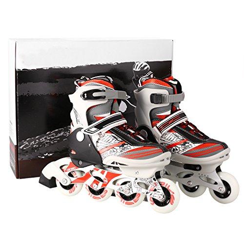 ご覧ください遅れ感じWeskate Childs Funny Inline Skatesアルミブラケット調節可能子供用ローラースケートPerfect for Beginner