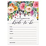 Digibuddha Bridal Shower Invitations with Envelopes (Pack of 50) Beautiful Fill-In Floral Wedding Shower Party Invites Excellent Value Invitations VI0040
