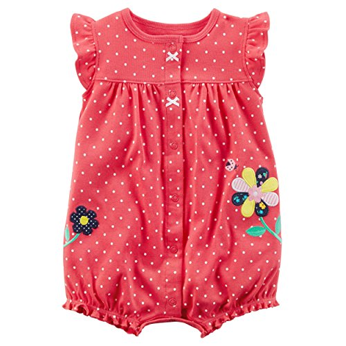 Dot Flower Girl - Carter's Baby Girls' Dot Flower Romper 3 Months