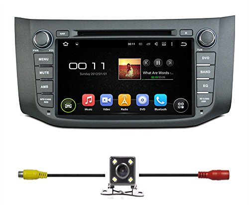 BlueLotus 8″ Android 5.1 Quad Core Car DVD GPS Navigation for Nissan Sentra 2013 2014 +TV+Radio Bluetooth+WIFI+SWC+RDS+AV+AUX IN+Backup Camera + USA Map For Sale