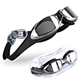 Swimming Goggles, TOMSHEIR Clear Swim Goggles, Anti Fog UV Protection No Leaking Swimming Goggles Glasses with Protection Case for Adult Men Women Youth Kids Girls, Free Ear Plugs