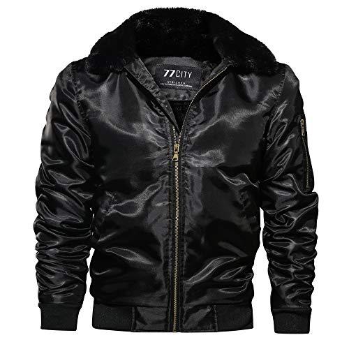 YOcheerful Men's Trucker Jacket Bomber Jacket Warm Winter Coat Parka Outwear Gilet Jumper Overcoat Cool Work Wear - Sleep Ball Wear Dragon Z