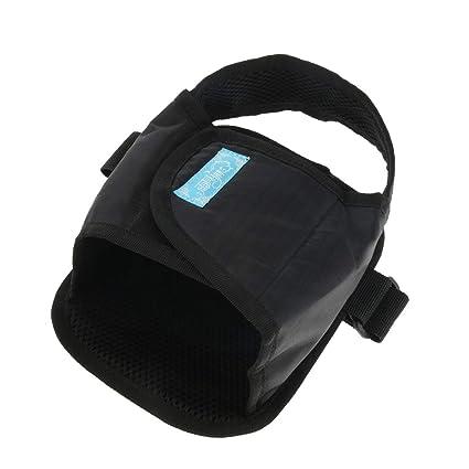 B Baosity 1 Par Almohadillas Reposapiés para Sillas de Ruedas Accesorios de Proteccion - Negro