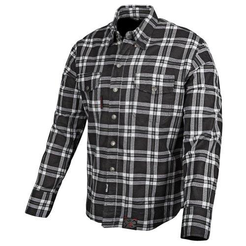 (Speed and Strength Black Nine Men's Reinforced Moto Shirt (Black, Large))