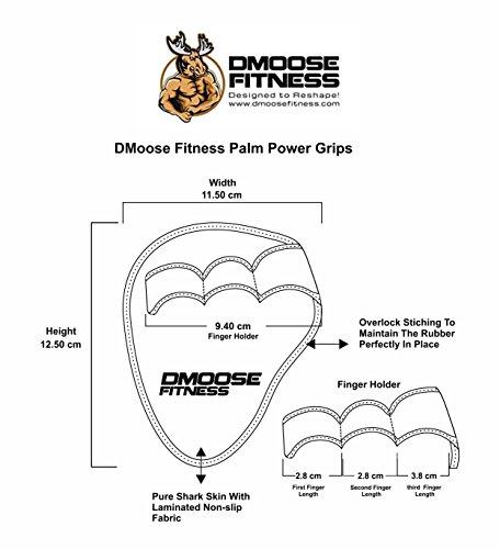Palma de Grips - Puños de musculación, almohadilla (par) - levantamiento de pesas, dominadas, peso muerto, banco de sentadillas & prensa - Alta resistencia ...