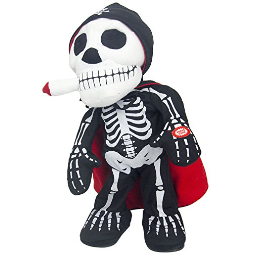 Multifunctional Electronic Dancing Toy Ghost Voice Scary Spooky Skeleton Terror Flashing Light up Home Decoration Children Birthday Halloween Christmas Gifts - Battery Operated (Ghost stand)