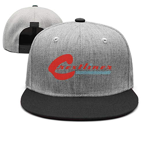 Men Womens Casual Cap Crestliner-Logo-Reds- Black Fashion Unisex Sun Adjustable Hat