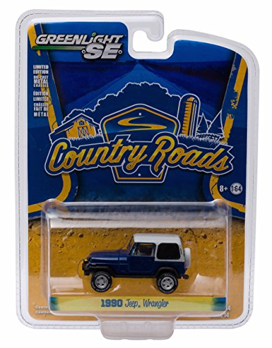 1990 JEEP WRANGLER YJ HARDTOP * Country Roads Series 14 * 2016 Greenlight Collectibles 1:64 Scale Die-Cast Vehicle (Pickup Hardtops)