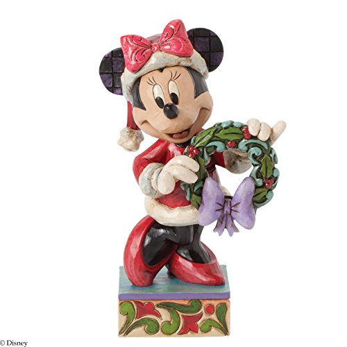 Jim Shore for Enesco Disney Traditions by Minnie As Mrs. Clause Figurine