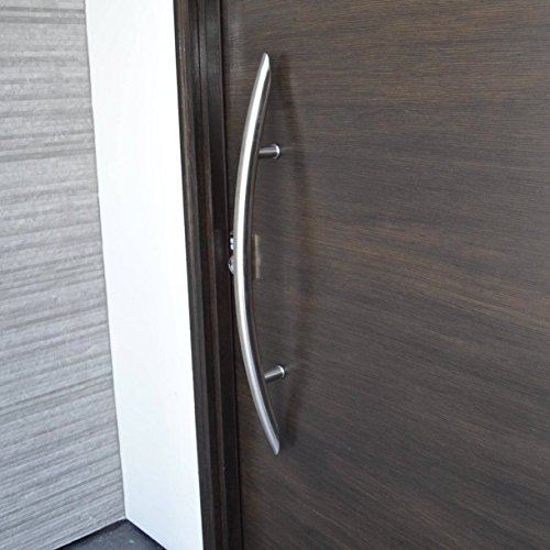 106 Castle Modern Stainless Steel 304 Grade Entry Entrance Store Front Timber Wood Flameless Glass Aluminum Door Pull Push Handles Double-sided (36 Inches /900x38mm) by amoylimai