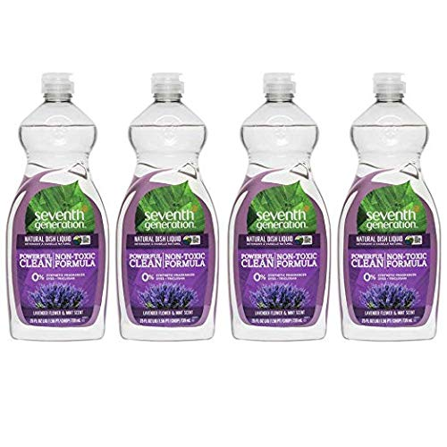 Seventh Generation - Natural Dish Liquid, Lavender Floral & Mint - 25 Ounce (4 Pack)