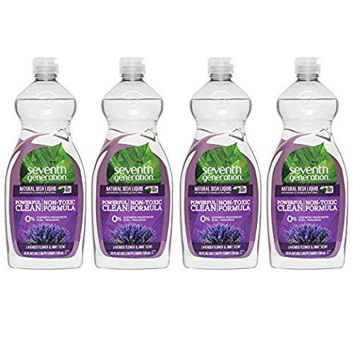 (Seventh Generation - Natural Dish Liquid, Lavender Floral & Mint - 25 Ounce (4 Pack))