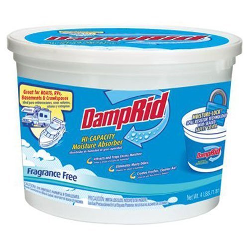DampRid FG50T HI-Capacity Moisture Absorber, 2-Pack, 2 Piece (1, 4-Pack)