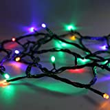 LEDwholesalers Linkable RGB Color LED String Light 33 Feet 100 LED with Connector and Cotroller, 2065rgb