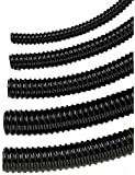 Schlauch 40mm - 1 1/2 Zoll schwarz pro Meter am Stück