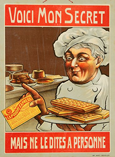 Pastry Confectioner Waffle Vintage Belgian Poster Print