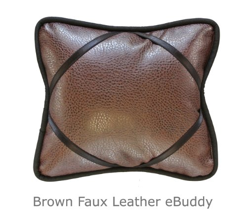 e-Buddy Faux Brown Leather Reading Pillow Fits most small...