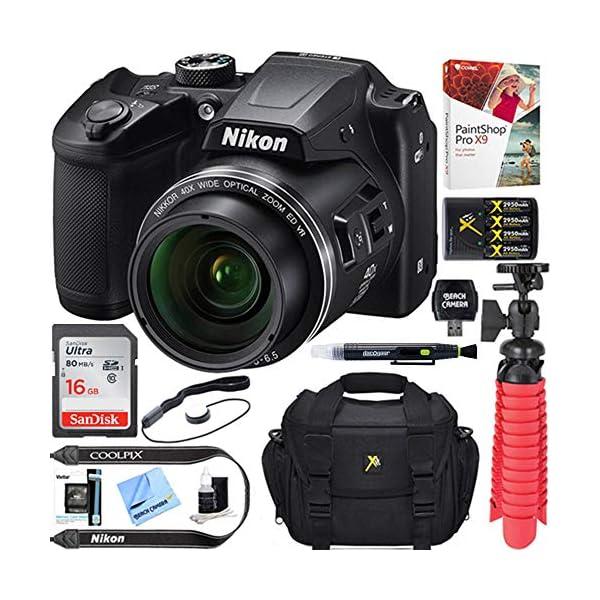 51m%2BOQfo%2BqL. SS600  - Nikon COOLPIX B500 16MP 40x Optical Zoom Digital Camera w/Built-in Wi-Fi NFC & Bluetooth (Black) + 16GB SDHC Accessory…