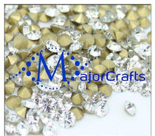 MajorCrafts 1400pcs Crystal Clear 1.8mm ss5.5 Point Back Glass Chaton Rhinestones