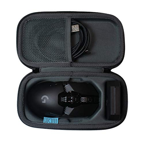 TUDIA Hard Travel EVA Shock Absorption Carrying Storage Case Compatible with Logitech G903/ G900 Chaos Lightspeed Gaming Mouse