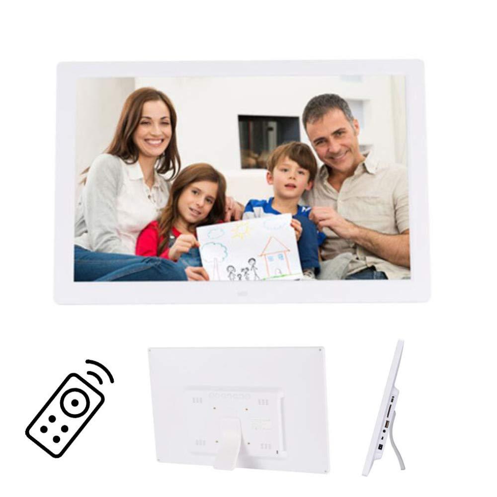 BVCXZ Marco Digital para Fotos 17 Pulgadas HD con Sensor Movimiento Y Control Remoto Marco Digital Fotos 16:9 Widescreen con Imagen//M/úsica//Video Reproductor,E-Book,Despertador,Calendario,White