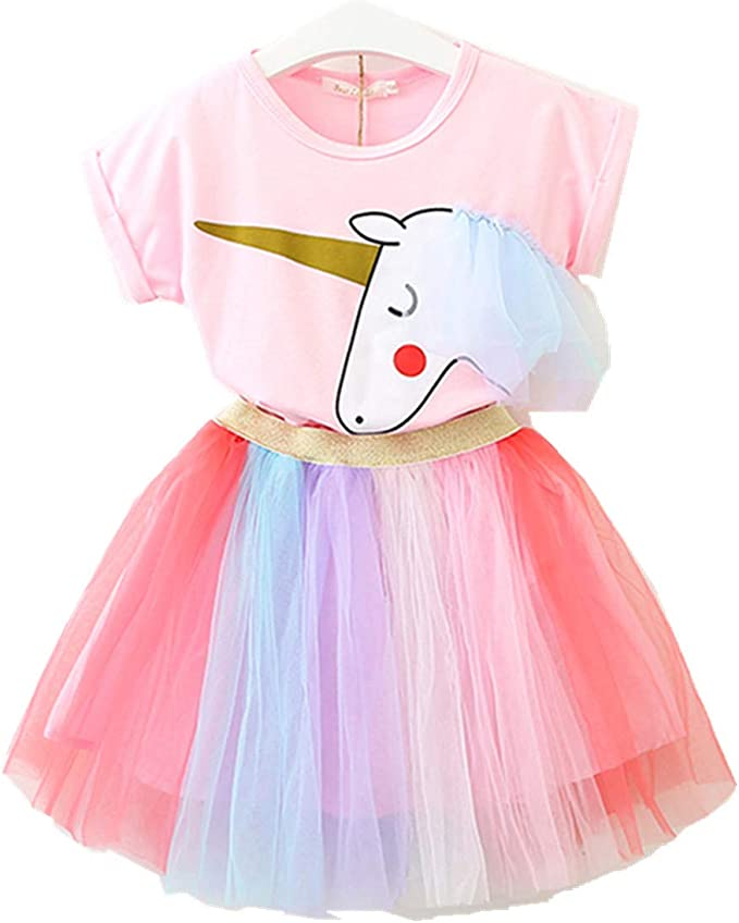 Lee Little Angel Pequeña niña Unicornio Casual Encaje Vestido ...