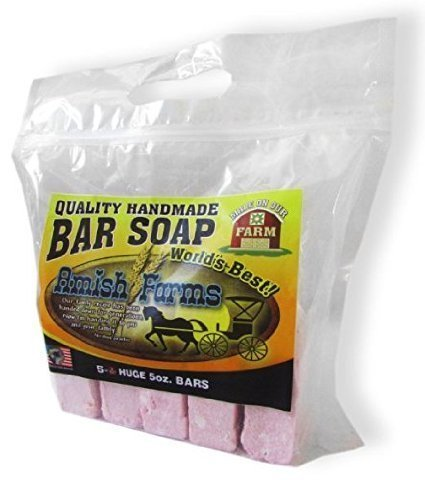 All Natural Amish Farm Bar Soap Variety 5-Pack Cold Process Old-Fashioned Homemade Hand-cut