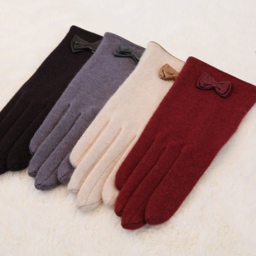 WARMENレディースNWTストレッチニット冬暖かいウール手袋クリスマスギフト5色