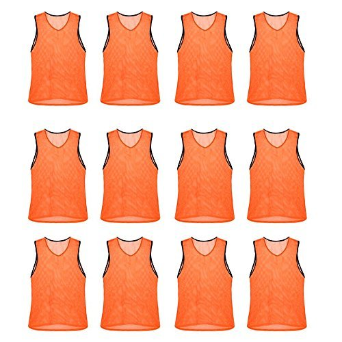 Nylon Mesh Scrimmage Team Practice Vests Pinnies Jerseys Bibs for Children Youth...