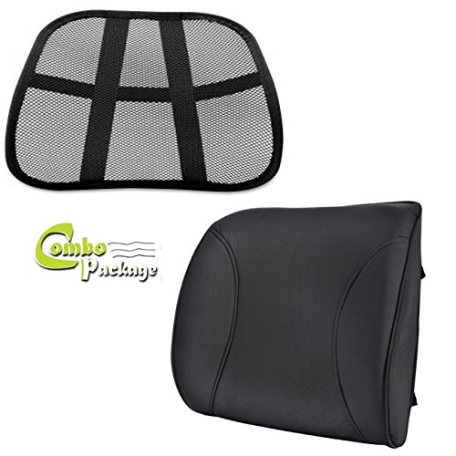 - Ultimate Combo Posture Fix Mesh Office Chair & Plush Seat Lumbar Back Support Cushion with Removable Cover - Get Better Now!