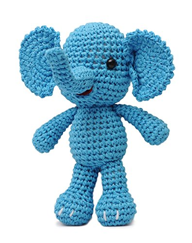 Elephant Animal Handmade Amigurumi Stuffed Toy Knit Crochet Doll VAC DaoOfThao ()
