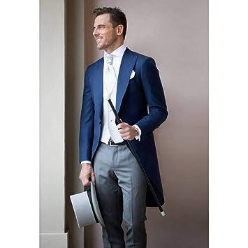 GFRBJK Abrigo Pantalón Diseño Trajes de Boda para Hombres Novio ...