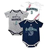 "Seattle Mariners Baby / Infant ""Three Strikes"" 3 Piece Creeper Set"