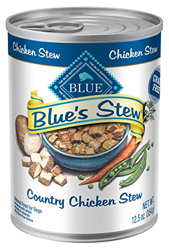 Blue Buffalo Blue's Stew Natural Adult Wet Dog Food, Chicken Stew 12.5-oz can (Pack of 12) (The Best Chicken Stew)